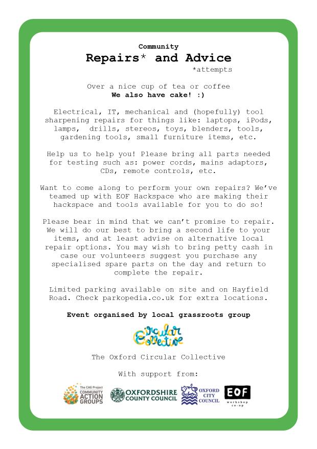 Repair Cafe 2 - Circular Collective - Poster Flyer v2 pg2